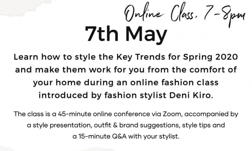 Online Fashion Masterclass: How To Style The Key Trends For Spring-Summer 2020