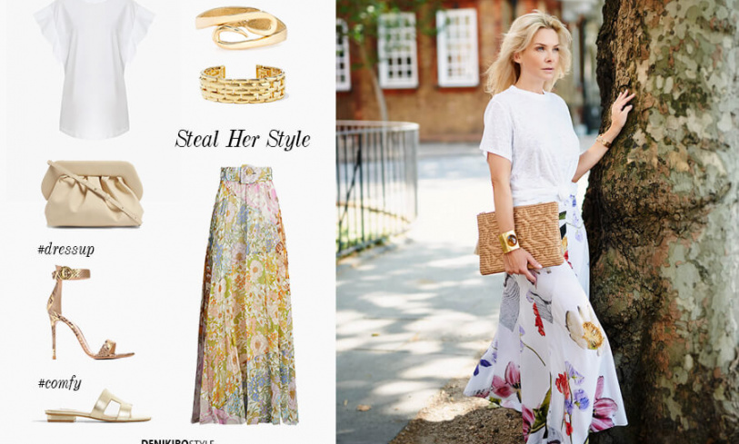 Get The Look: How To Style A Floral Skirt